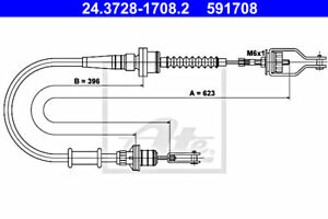 ATE Clutch Cable For NISSAN Micra II 30770-5F200