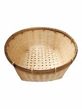VTG Fruit Storage Bamboo Basket Rattan Wicker Asian Kitchen Flower Plant holder