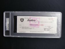 AL DAVIS PSA/DNA CERTIFIED AUTHENTIC SIGNED RAIDERS TEAM CHECK AUTOGRAPH HOF