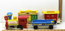 Vintage Fisher-Price Little People Circus Train #991 Pull Along Toy Animal Zoo