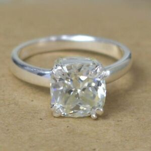 4.05 Ct Cushion Cut Off White Diamond Ring, Certified, Gift For Her WATCH VIDEO