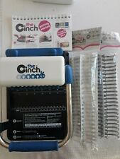 The Cinch Book Binding Tool With 4 New Book Binding Wires & Instructions GUC!