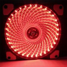 DIY 12V Neon Clear 120mm PC Computer Case Cooling Fan Mod With 33 LED LighQM