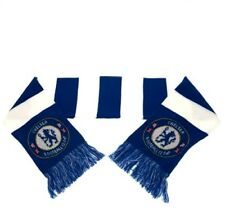 Chelsea F.C Official Crested Jacquard Knit Bar Scarf Present Gift da0aa480a4a