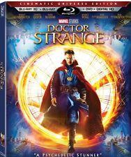 Doctor Strange 3D (Blu-ray 3D/Blu-ray/DVD/Digital HD, 2017) NEW w/ Slipcover