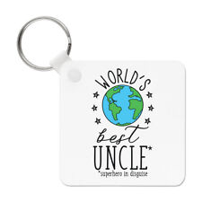 World's Best Uncle Keyring Key Chain - Funny Gift Present