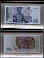 GEORGIA 500 LARI P 60 1995.  MAN PAINTING TIBLISI. UNC BILL BANK SEAL GLASS .
