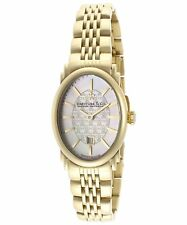 Dreyfuss & Co. Women's Hand Made Quartz Watch Gold Steel Sapphire DLB00046-02