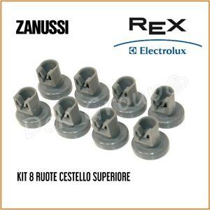 Kit 8 Ruote Cesto Cestello Superiore REX ELECTROLUX Lavastoviglie 50286967000