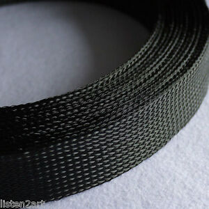 35MM Tight Braided PET Woven Expandable Sleeving Sleeve 13Feet 4Meters