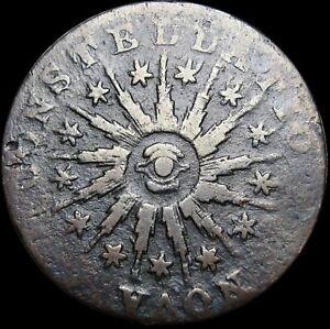 1785 Nova Constellatio Colonial Copper Coin NICE L@@K  - #S437