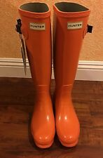 Chic!!!!**WOMEN'S HUNTER TALL RAIN BOOTS IN Orange SIZE 9 us, 40-41 Eur
