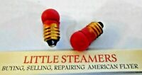 AMERICAN FLYER TWO 1447R  RED LIGHT BULBS  REPRO  #1447RP  PAINTED