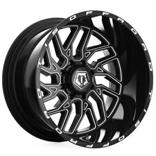 "TIS 544BM 22x14 8x6.5"" -76mm Black/Milled Wheel Rim 22"" Inch"