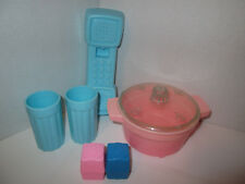 Vintage Fisher Price Pretend Play Food Kitchen Parts Accessories Phone Dishes