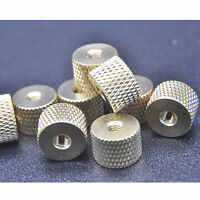 20 pcs M3 x 0.5mm Brass Pineapple pattern knurled Thumb cylindrical copper nuts