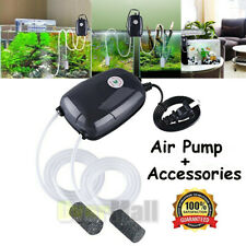 Aquarium Air Pump 300Gal Adjustable 2 outlets for Fish Tank Hydroponic Pond