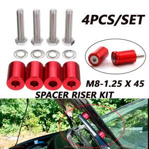 4pcs 1 '' 8mm Billet Hood Vent Spacer Riser Kit For Car Engine Turbo Engine Swap