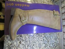 NEW STEVE MADDEN MADDEN GIRL CRIMSONN HI RIDING BOOTS WOMENS 6 COGNAC FREE SHIP