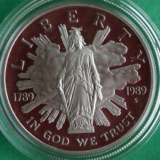 1989 Congressional Proof 90% Silver Dollar Commemorative US Mint Coin ONLY