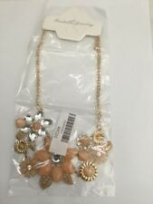 Fashion Charm Chunky Statement Chain Choker Peach Pendant Necklace
