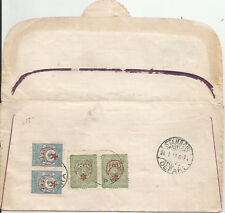 1917 TURKEY CENCORED REGISTERED WAR ISS.STAMPS COVER TO SWITZERLAND