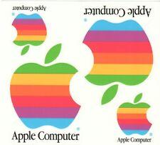 APPLE Computer Logo Stickers Vintage RAINBOW + Six(6) White Stickers