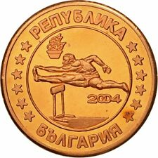 [#434629] Bulgaria, Medal, Essai 5 cents, 2004, Ms(63), Copper