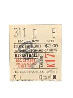 1963 New York Kincks Vs Boston Celtics Ticket Stub At Madison Square Garden