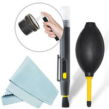2-In-1 Lens Cleaning Pen + Deluxe Dust Blower Kit For All Cameras & Lenses