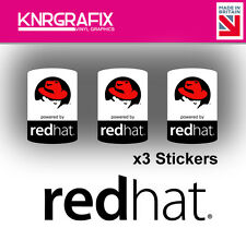KNR7725 3x REDHAT Sticker Decal Badge PC Repair