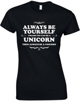 Always Be Yourself Unicorn The Last Unicorn Ladies Printed T-Shirt Women Tee Top