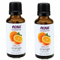 2 x NOW FOODS 100% PURE ORANGE ESSENTIAL OIL 1 OZ, FRESH, MADE IN USA