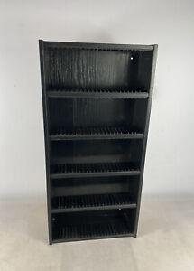 Vintage Retro Black Ash Effect  CD Holder Storage Unit - Holds 115 Cds