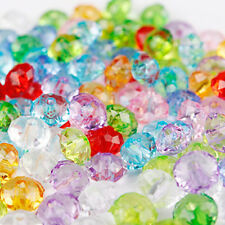 New Wholesale 50/100PCS Faceted Czech Crystal Glass Loose Spacer Oval Beads 6mm