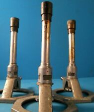ASSORTED BUNSEN BURNER TIPS WITH GAS LINE LOTS OF (3)