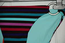 kaleidoscope STRIPE AQUA RING BRIEFS Bikini Bottoms UK 18  In a supersoft Fabric