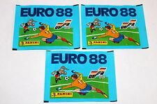 PANINI EM EC EURO 88 1988 – 3 X BUSTA BUSTINA packet sobre POCHETTE MINT!