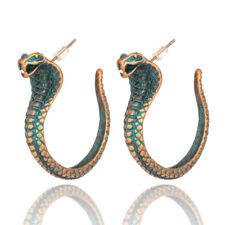 Antique Green Snake Dangle Drop Earrings Women Fashion Punk Jewelry Accessories