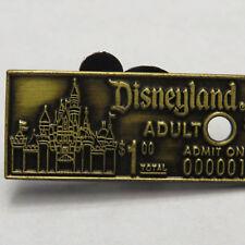 Disney Disneyland Adult Admission Ticket 3D Pin