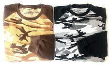 Finish Line Athletic FINL365 Thermal Shirt Lot Army Camo Tops Black Brown XL XXL