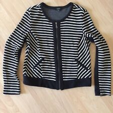 Anthroologie DREW Wiomens Zip Up Knit Striped Jacket Size Large