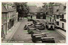 More details for postcard oakham market place note morris 8 z gpo & royal mail vans real photo