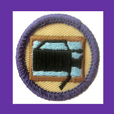 VIDEO PRODUCTION 1990s Jr. Girl Scout Badge NEW Camera Movies Multi=1 Ship Chrg