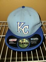 New Era 59Fifty Kansas City KC Royals Fitted On-Field Cap Hat Size 7 3/8
