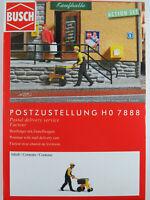 """Busch H0 7888 ACTION SET """"Postzustellung"""" mit Briefträger 1:87/H0 NEU/OVP"""