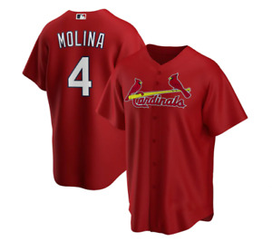 Men's St. Louis Cardinals Yadier Molina In Red Player Name Jersey XS-4XL