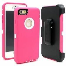 For iPhone 7/7 PLUS Defender w/Tempered Glass Shock Proof Case Clip Fit OtterBox