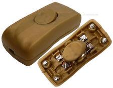 Kabelschalter Schalter Schnurzwischenschalter Schnurschalter goldfarbig #97020