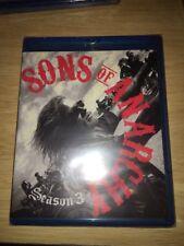 Sons of Anarchy: Season Three (Blu-ray Disc, 2011, 3-Disc Set)